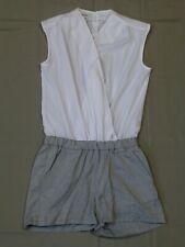 Heine Overall Jumpsuit Shorts Gr. 40 weiß grau neu