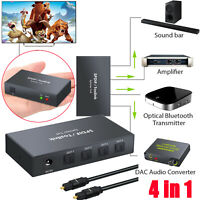 Digital Optical Audio 1x4 Splitter SPDIF Toslink Switcher for PS3 Xbox DVD HDTV