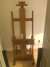 Artist Easel Large Studio l Solid wood caster wheels with locks never used