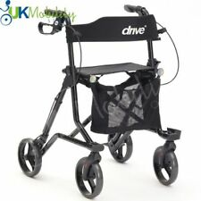 Drive Torro Ultra Lightweight Folding 4 Wheel Walker Height Adjustable Rollator