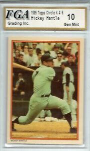 "STUNNING FGA GRADED 10 ""GEM MINT"" 1985 Circle K New York Yankees Mickey Mantle"