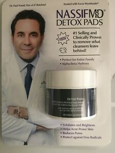 Nassif MD™ Detox Pads Alpha Beta Hydroxy Complexion 60 Pads New SEALED