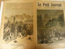 PETIT JOURNAL- 1893 - N° 138 - émeutes à PARIS et à STRASBOURG