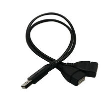 USB 2.0 A Male To 2 Dual Female Jack Y Splitter Hub Power Cord Adapter Cable NEW