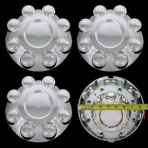 "4 for Dodge Ram Truck 17"" CHROME 8 Lug Wheel Center Hub Caps Rim Nut Bolt Covers"