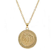Fashion vintage womens Gold Filled jewelry Chain long Necklace+Allah Pendant