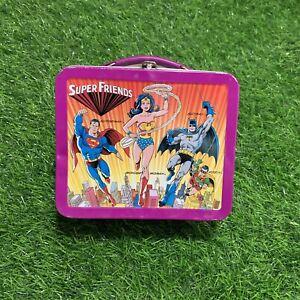 Vintage ALADDIN SUPER FRIENDS LUNCH BOX - DC Comics.Pre-Owned