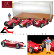 CMC M-201 1:18 LUCKY SET 3 FERRARI D50 FANGIO FIGURE DISPLAY CASE LE 200