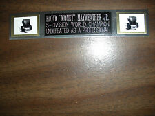 FLOYD MAYWEATHER JR. (BOXING) NAMEPLATE FOR SIGNED GLOVES/TRUNKS/PHOTO DISPLAY