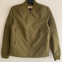 Pretty Green Mens Embroidered Bomber Jacket in Mid Green Size XXS   RRP£210 BNWT