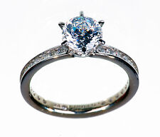 14K White Gold 2.05 Cttw Diamonique Eternity Solitaire ring size 5