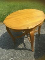 French country ethan allen side table -246 finish