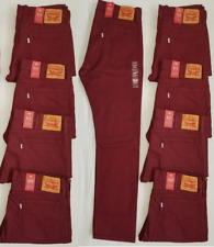 Levi's 513 Men's Slim Straight Stretch Colored Jeans Burgundy 085130701 Levis