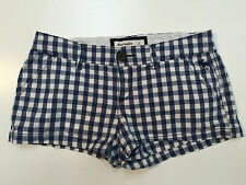 Abercrombie & Fitch Kids Everyday Girl Cotton Blue Plaid Stretch Shorts Size 12