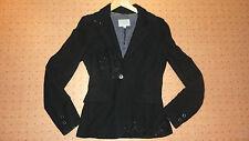 Jigsaw UK 8 Black Jacket Coat Sequins coat blouse blazer 6
