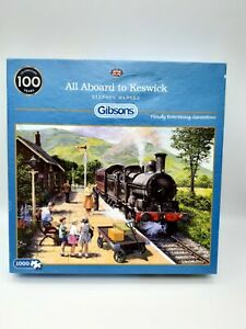 1000 Pieces Puzzle - All Aboard To Keswick - Stephen Warnes - Gibsons - Rarity