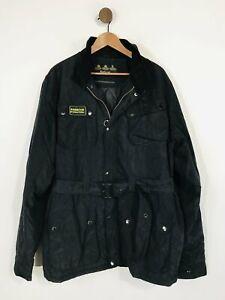 Barbour International Men's Military Jacket   XL   Black