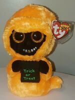 Ty Beanie Boos - GRINNER the Halloween Ghoul (6 Inch) NEW - MINT with MINT TAGS