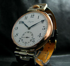 Converted from Pocket Chronometer Watch Antique 1916 Large Silver Wristwatch