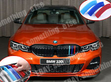 M power 3 tri-Color Grille Cover,BMW G20 3 series 2019+,Cap Clip strip trim