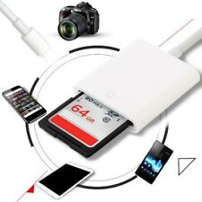 Lightning Iphone Ipad Upgraded SD Card Reader Camera Tail Adapter USB 2.0