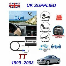 For Audi TT Bluetooth Hands Free Phone AUX Input MP3 1.0A USB Charger Module 8PN