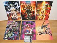 """He-Man Masters of the Universe Power-Con 2016 Exclusive 9""""x6"""" Art Print Set of 6"""