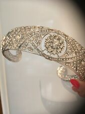 Meghan Tiara . Wedding Silver Tiara . Great Quality