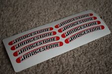 Bridgestone Tyres Racing Car Sport Motorbike Bike Tuning Rim Wheel Decal Sticker