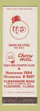New listing Matchbook Cover - Cherry Hills Golf Country Club Flossmoor IL