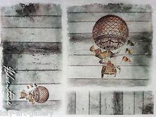 Rice Decoupage Paper / Decoupage Sheets  / Scrapbooking / Vintage Baloons