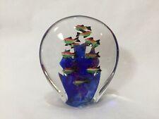 """Vintage Murano Art Glass Fish Tank Aquarium Paperweight, 6"""" Tall, 4 Lbs 8 Oz"""