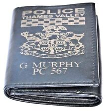 THAMES VALLEY POLICE FORCE UK PERSONALISED GENUINE LEATHER WALLET ANY NAME & NO