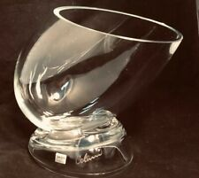 Neiman Marcus Signed LUIGI COLANI Crystal Vase 70s 80s Glass Wine Beer Cooler