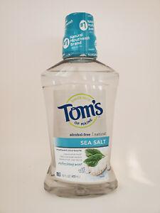 Tom's of Maine Alcohol-Free Sea Salt Mouthwash - 16oz - 2 pack or 3 pack