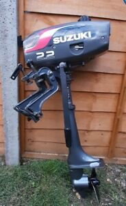 Suzuki DT2.2  2 stroke outboard motor with lock, cover and manual, Hardly used