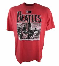 The Beatles Men's Ticket To Ride Vintage Licensed Heather Red T-Shirt,  M-2XL