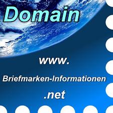 www.briefmarken-informationen.net -Domain / Internet-Adresse / Web-Adresse / URL