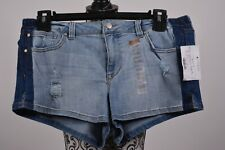 Celebrity Pink Women's Blue Jeans Distressed Blue Line Denim Shorts Size 11/30