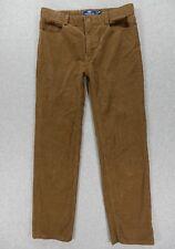 Vineyard Vines Classic Corduroy Flat Front Casual Pants (Boys Size 16) Brown