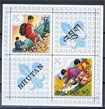 BHUTAN, SOUVENIR SHEET BOY SCOUTS 1971 MNH