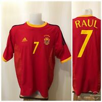 Spain team #7 Raul 2002/2003/2004 home Adidas Sz XL shirt jersey football soccer