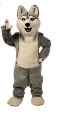 Husky Dog Mascot Costume Unisex Parade Christmas Adult Cartoon Party Dress Props