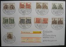 Bund MiNr. 454-461 gestempelt in Paaren auf Brief letzter Verwendungstag!!!
