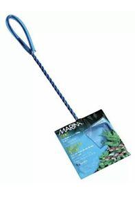 "Hagen Marina 3"" Fine Nylon Mesh Blue Net Fish Tank Fresh Saltwater 10"" Handle"