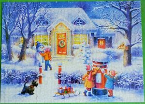 RARE FIND IMPORTED TOY TOWN CHRISTMAS 1000 PIECE JIGSAW PUZZLE COMPLETE L@@K!.