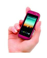 "Mini SmartPhone 4G World's Smallest Android Mobile Phone 2.4"" touch screen Pink"