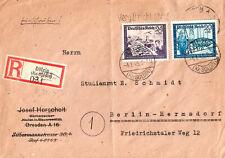 1945 Nazi Germany Reg Cover Sent fr. Dölzig Prussia (now Dolsk Poland) to Berlin