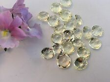 Swarovski #4471 vintage strass 9.2mm jonquil uf antique square pack 4 craft