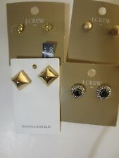 J.Crew Banana Republic Stud Earrings B0380 B0379 03044 NWT $22.50 39.50 set  4